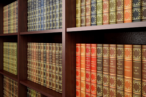 This is a stock photo. An up close photo of legal books on a shelf.