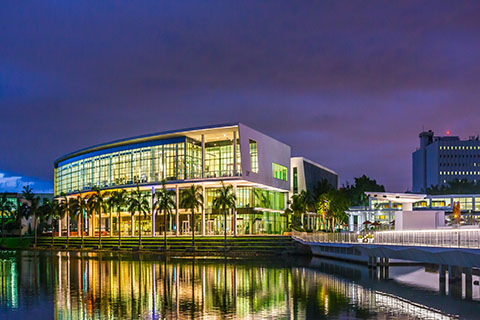 The Shalala Student Center on the University of Miami Coral Gables campus.